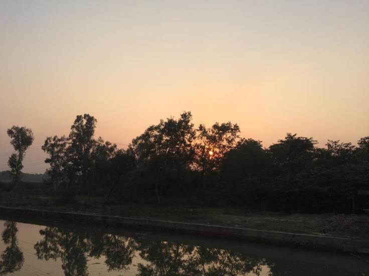lumbini sunset